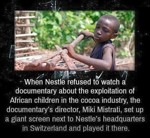 case documentary child slavery in the chocolate As south africa celebrates human rights day, it's worth taking a look at the chocolate case, a new documentary detailing the devastating impact of child slavery in the chocolate industry.