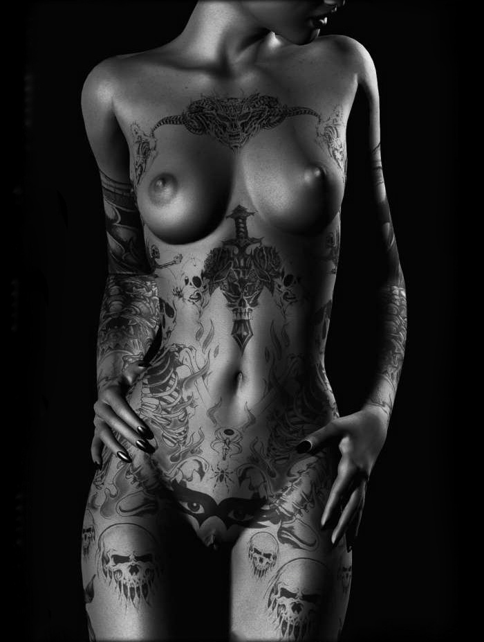 Татуированные девушки ню 23 фотография
